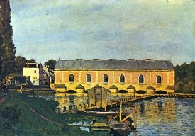 Alfred Sisley la machine de marly