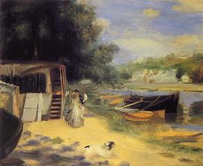 Auguste Renoir, View of Bougival, detail, 1873, Milwaukee Art Museum, Wisconsin, USA