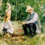 Berthe Morisot Eugene Manet et Julie dans le jardin de Bougival