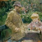 Berthe Morisot, Eugene Manet and his daugther in the garden at Bougival, 1881, Musée Marmottan, Paris.