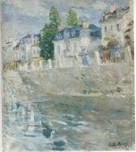 Berthe Morisot, The Quay, 1883, Nasjonalmuseet, Oslo, Norway