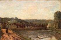 Camille Pissaro, Bords de Seine à Bougival, 1871.