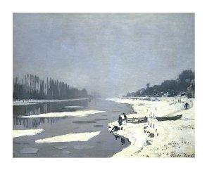 Claude Monet, Ice floes on the Seine at Bougival, 1867, Paris, Musée du Louvre