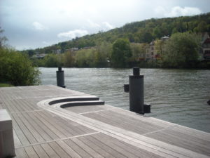 River landing stage at Bougival.