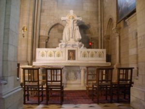 The High altar of Our Lady of the Assumption church at Bougival.