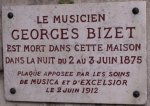 Georges Bizet' house. Commemorative plaque.