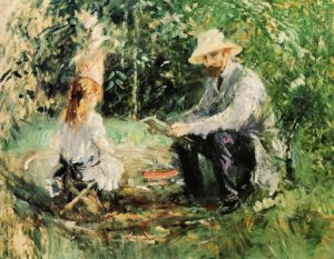 Berthe Morisot. Eugene Manet and Julie at Bougival, 1883, Musée Marmottan, Paris