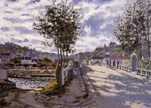 Claude Monet, The bridge at Bougival, 1869,  The Currier Gallery of Art, Manchester, NH, USA
