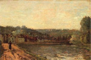 Pissarro, The banks of the Seine at Bougival,1871, Private Collection.