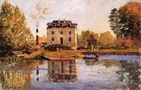 Alfred Sisley la fabrique pendant l'inondation