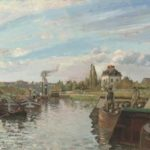 Camille Pissaro, Barges ib the Seine at bougival, 1871, Private Collection