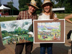 1er et 2ème prix du concours de peinture du 3ème Estival des Impressionnismes